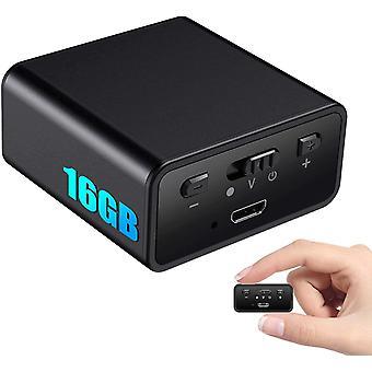 HanFei Mini Digitales Diktiergert Stimmenaktivierung, 16GB Magnetischeaufnahmegert mit 1200mAh -