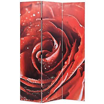 vidaXL مقسم غرفة قابلة للطي 120 × 170 سم روز الأحمر