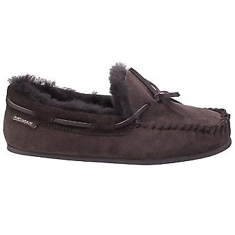 Cotswold Womens/Ladies Stanway Sheepskin Moccasin Slippers