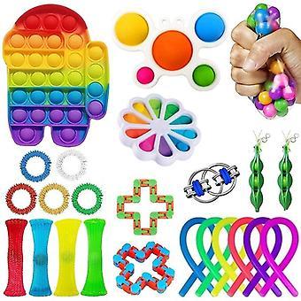 24st Pack Fidget Leksaker Sensory Toy Set Antistress Relief Fidget Leksaker