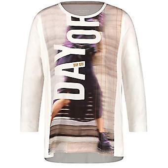 Gerry Weber T-Shirt 3/4 Arm, White, 42 Woman