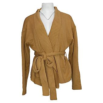 All Worthy Hunter McGrady Women's Sweater Tie Front Brown A454989
