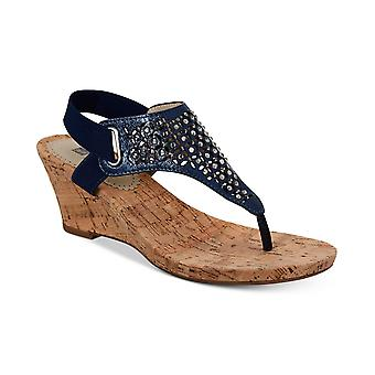 White Mountain Womens Arnette Embellished Wedge Sandals