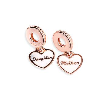 PANDORA Mother & Daughter Hearts Dangle Charm - 782072EN23