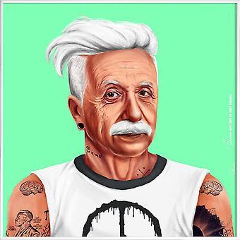JUNIQE Print -  Einstein - Pop Art Poster in Grün & Schwarz