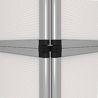 vidaXL 15-Panel Messewand Faltdisplay 302×200 cm Weiß