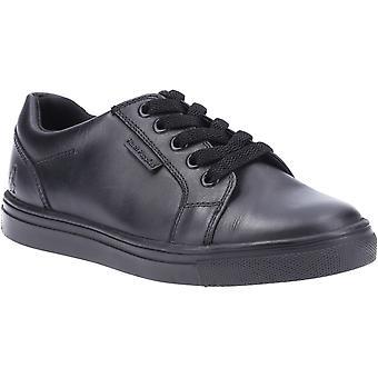 Hush puppies kid's sam junior school shoe black 32579