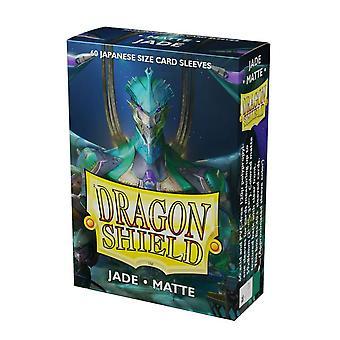 Dragon Shield Matte Jade Japoński rozmiar Rękawy karty - 60 rękawy