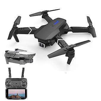 Dualcamera 4k valkoinen quadcopter e525 wifi fpv drone laajakulma hd 4k 1080p kameran korkeus pitää rc taitettava quadcopter dron lahja lelu fa0115
