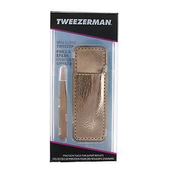Tweezerman Mini Slant Tweezer With Case - Rose Gold