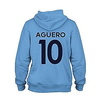 Sergio aguero 10 club player style kids hoodie sky/navy