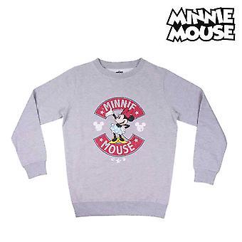 Hoodless Sweatshirt for Girls Minnie Mouse Grey