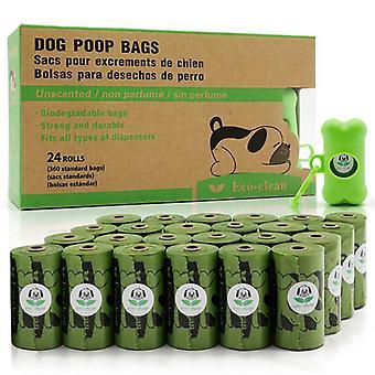 24 Rullar nedbrytbar soppåse förtjockad hundstolspåse med dispenser