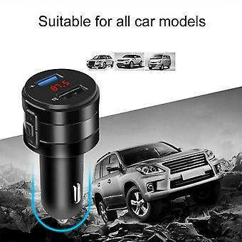 لاسلكي بلوتوث 5.0 سيارة FM الارسال مشغل الموسيقى AUX راديو USB شاحن كيت
