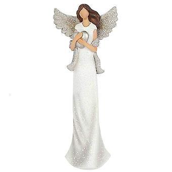 Amara Medium Glitter Engel Ornament