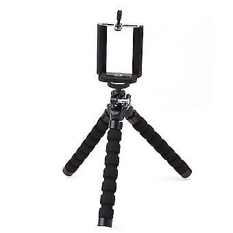 Mini tripod stand versitile desk phone holder(Black)