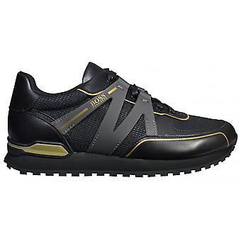 Hugo Boss Footwear Hugo Boss Men's Black/ Gold Parkour-L Runn Txmx Trainers