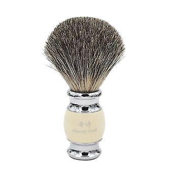 ヴィンテージ手細工の純粋なアナグマの髪樹脂ハンドル - メタルベースシェービング