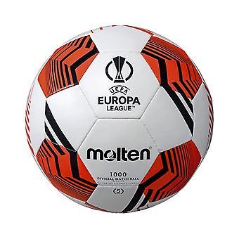 المنصهر الدوري الأوروبي 2021/22 الرسمية 1000 النسخة المتماثلة لكرة القدم الأبيض / الأسود