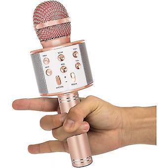 Karaoke mikrofon, 4 az 1-ben vezeték nélküli Bluetooth mikrofon, alkalmas éneklésre, felvételre, ünnepi születésnapi parti család