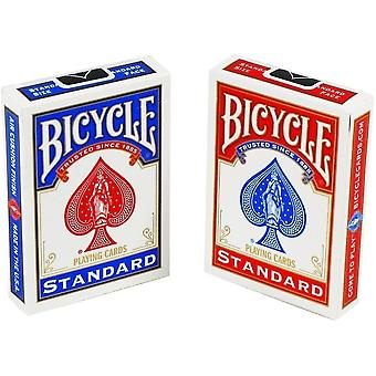 Card games unisex's red-blue standard face playing cards 2 pack 88 x 63 mm