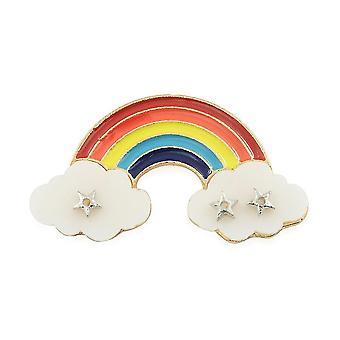 TJC Rainbow zománcozott bross felhővel