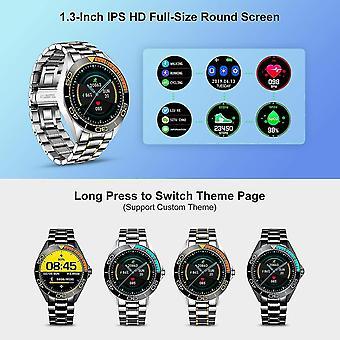 Smart Watch LIGE Mænd, IP67 Vandtæt Fitness Tracker ure Puls ilt i blodet Blodtryk