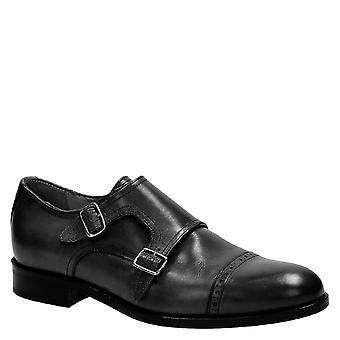 Håndlaget svart munk stroppen sko Made in Italy
