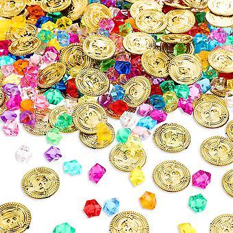 Merirosvo kultakolikot jalokivi korut aarre lelu aktiviteetti puolue sisustus 200kpl