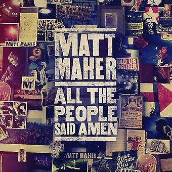 Matt Maher - All the People Said Amen [CD] USA import