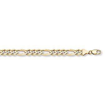 14K Gold Figaro Link Bracelet (7mm)