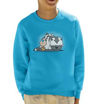 U pijlpunt Avatar de laatste Airbender pinda's Kid's Sweatshirt