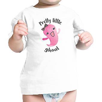 تي شيرت الرضع القليل جداً الغول بيبي فتاة هالوين التي شيرت الأبيض
