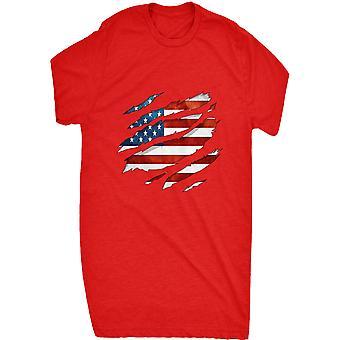 Renomado bandeira americana 0066 rasgada