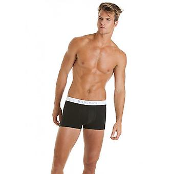 Haigman Mens Hipster Black And White Trunk Style Boxershort Underpants