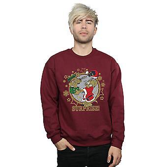 Tom och Jerry mäns jul överraskning Sweatshirt