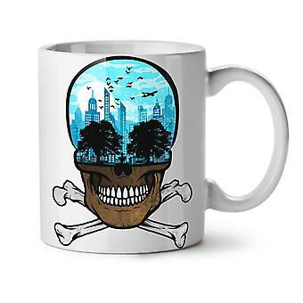 Head City Face Art Skull NEW White Tea Coffee Ceramic Mug 11 oz | Wellcoda