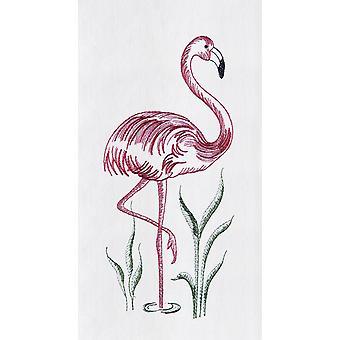 Розовый Фламинго муки мешок полотенце 27 дюймов вышитые дизайн кухни