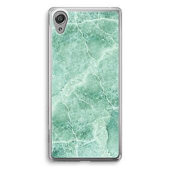 Sony Xperia XA1 przezroczyste etui (Soft) - zielony marmur