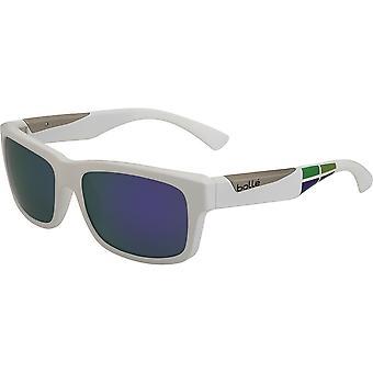 Bolle Jude Sunglasses (Blue Violet Lens Matt White/Square Frame)