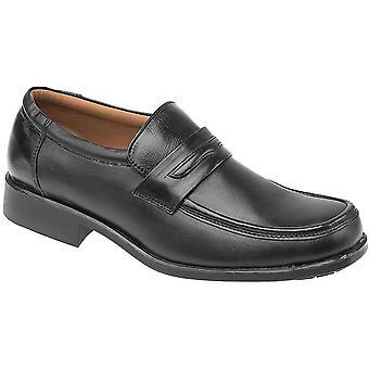 Amblers Mens Manchester Slip On Lined Leather Formal Loafer Black