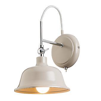 Endon belysning Laughton skiffer grå och krom vägg ljus