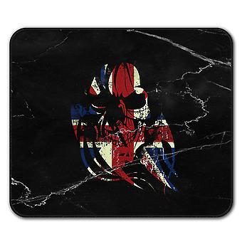 Skull Death Print Flag  Non-Slip Mouse Mat Pad 24cm x 20cm | Wellcoda