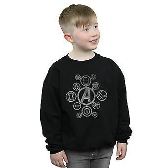 Marvel Boys Avengers Infinity War Distressed Metal Icons Sweatshirt