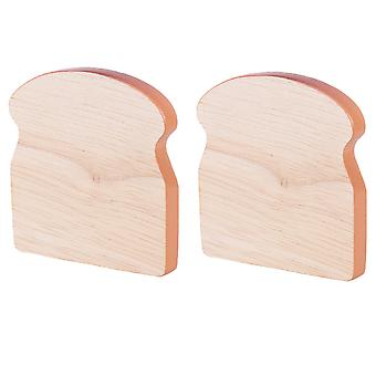 Bigjigs Toys Wooden Play Food Toast (Pack of 2) Pretend Role Play Kitchen