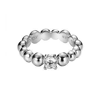 Esprit Damen Ring Silber Zirkonia Solo Pellet ESRG92321A1
