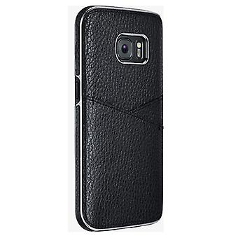Milk And Honey Leather Wallet Case for Samsung Galaxy S7 (Black)