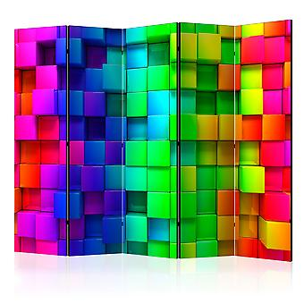 Biombo - Colourful Cubes II [Room Dividers]