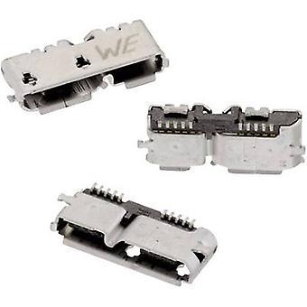 Micro USB 3.0 type B liggende SMD WR-COM Socket, vandret montering WR-COM 692622030100 Würth Elektronik Indhold: 1 stk(er)