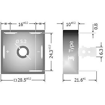 Diotec DB25-08 Diode broen D 63 800 V 25 A 3-faset